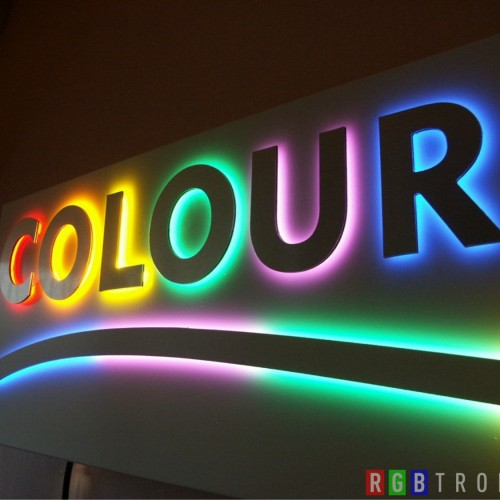Letrero o anuncio de LED