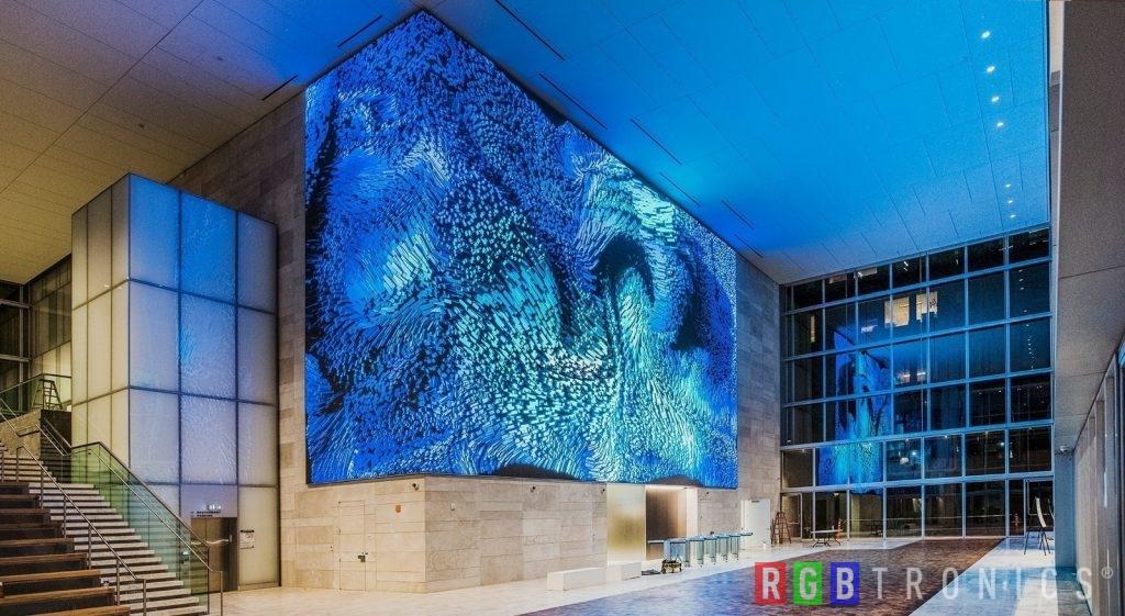 Pantalla gigante LED interior en pared