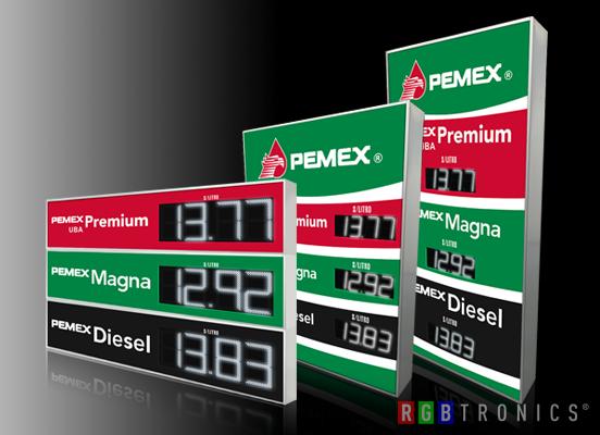 Tabletas de precios LED gasolineras